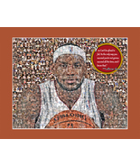 Lebron James Picture Mosaic Print Art Using 50 Player images of Lebron - $20.00