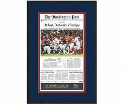 Framed Washington Post At Last Nationals 2019 World Series Newspaper 17x... - $114.99