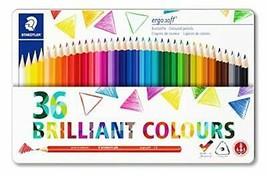 STAEDTLER 157 M36 Ergosoft Triangular Colouring Pencil, Assorted Colours... - $42.15