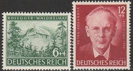 1943 Peter Rosegger Set of 2 Germany Postage Stamps Catalog Number B241-42 MNH