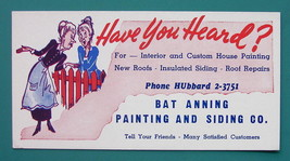 INK BLOTTER 1940s - Painting & Siding Bat Anning Hubbard California - $4.49