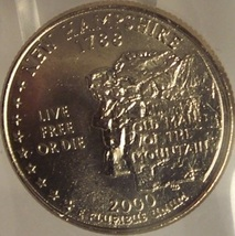 2000-P New Hampshire State Quarter MS65 in the cello #797 - $1.59
