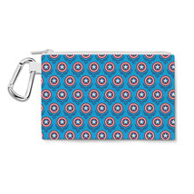Captain America Logo Avengers Superhero Inspired Canvas Zip Pouch - $15.99+