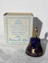 Vintage 1978 Lindner Kueps Bavaria Cobalt Porcelain Christmas Bell w/Box - $14.99