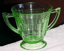 Green-sugar-Hazel Atlas- Depression glass-New -pat.-or Lydia Ray wrongly - $3.99