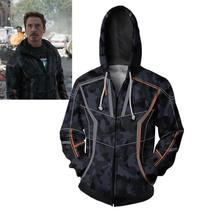 Infinity War Iron Man Cosplay Costume Hoodie Tony Stark Jacket Sweatshir... - $42.37