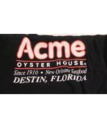 Acme Oyster House Restaurant T Shirt Black Large Fast Food Destin Florida  - $10.88