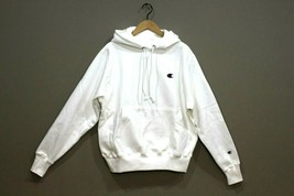 Champion Men's  Reverse Weave Pullover Hoodie NEW AUTHENTIC White GF68 Y... - $44.99