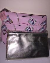 NWT VICTORIA'S SECRET DOUBLE ZIP BAG MAKEUP BEAUTY CLUTCH ORGANIZER - $43.20