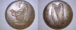 1966 Irish 1 Penny World Coin - Ireland - $6.49