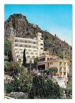 Italy Sicily Taormina Hotel Mediterranee Sagep Genoa 4X6 Postcard - $4.99