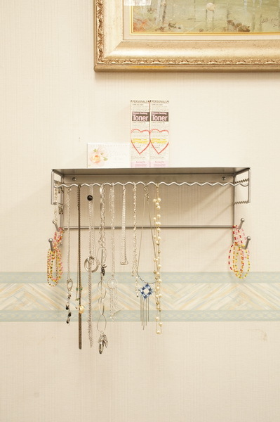 Wall-mounted Jewelry Organizer for Earrings, Bracelets, Necklaces, & Accessories