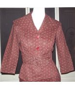 Vintage Nelly Don 40s Bombshell Secretary Dress Madmen 2 Piece Day Wiggl... - $75.00