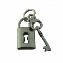 NICE Sterling Silver 925 Charm Lock and Key Split give to someone you lo... - $8.68