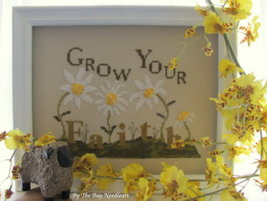 Grow Your Faith cross stitch chart By The Bay Needleart  - $7.20
