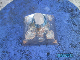 Orgone Energy Pyramid with Citrine and Copper - $41.95