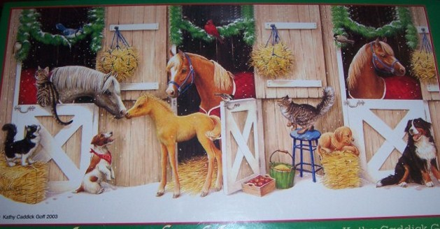 Stables Horses Dogs Christmas Puzzle NEW Neighbors 300