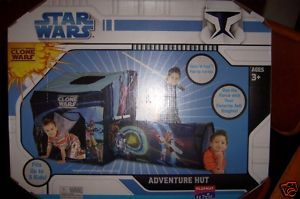 Star Wars Clone Wars Adventure Hut Crawl Port Jedi Knights Carrying Case NEW
