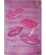 Valentine Day Kiss Lips Flag NEW 28 x 40 Inches Pink - $10.00