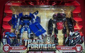 Transformers Super Tuner Throwdown Blowpipe & Sideways