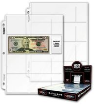 4 Pocket Currency Holder Pages  ( QTY = 10 pages) - $9.95