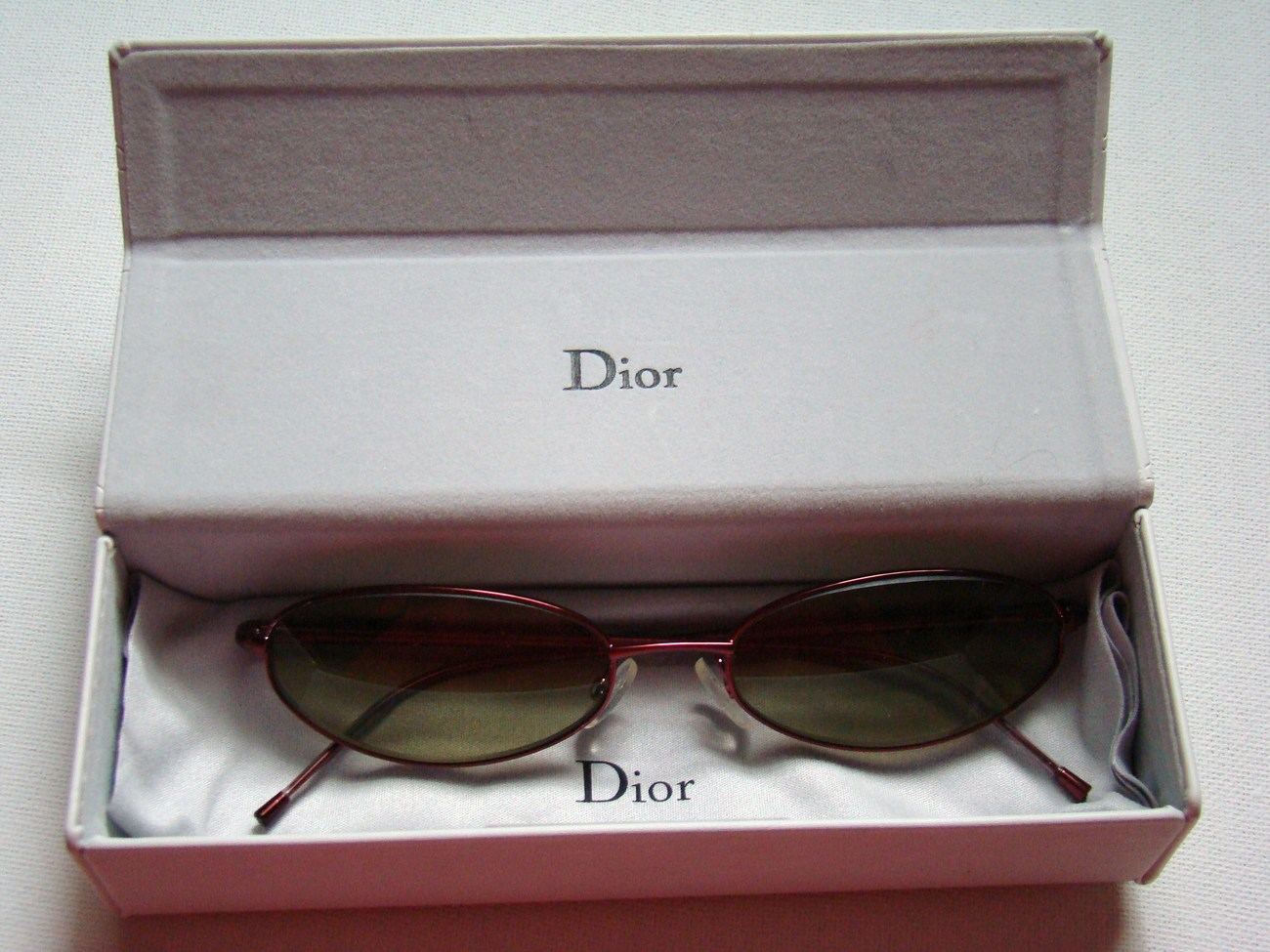 Christian Dior Metal Sunglasses with DriveWear Lenses