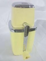 Vintage Ice Crusher Yellow Sears Manual Turn Crank Retro Kitchen MCM Bar... - $21.77