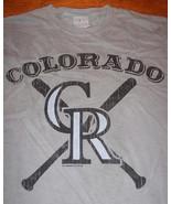 VINTAGE STYLE COLORADO ROCKIES MLB BASEBALL T-Shirt SMALL NEW - $19.80
