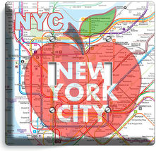 NYC NEW YORK CITY BIG APPLE SUBWAY MAP LIGHT SWITCH OUTLES WALL PLATE ROOM DECOR image 6
