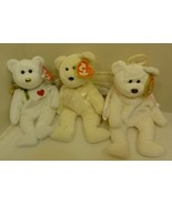 TY Beanie Babies Lot of Three (3) Christmas Angels: Halo, Gift of Love, ... - $19.98