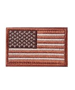 BX warehouse Tactical USA Flag Patch brown Army Patches Original Items Current - $7.69
