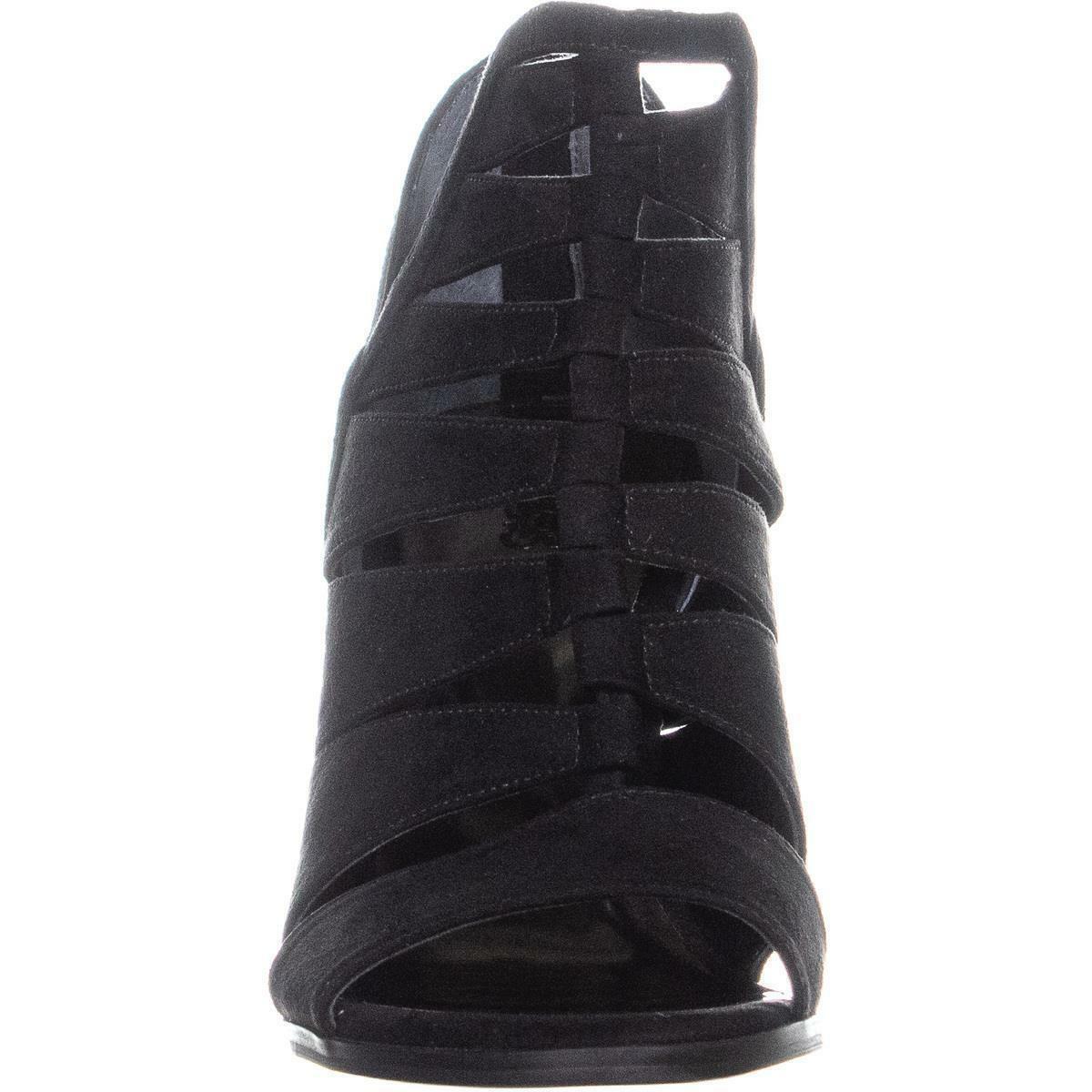 Carlos by Carlos Santana Solera Dress Sandals Black 10M Cut Out Strappy NIB S24