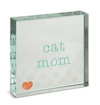 "Pavilion Gift Company 14155 Cat Mom Glass Plaque, 3 x 3"" - $12.94"