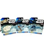 Millennium Falcon, Darth Vaders Tie Fighter and X-Wing Hot Wheels Star S... - $29.69