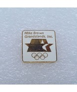 "1984 Los Angeles Olympics LAOOC Sponsor Pin ""Mike Brown Grandstands, Inc."" - $11.87"