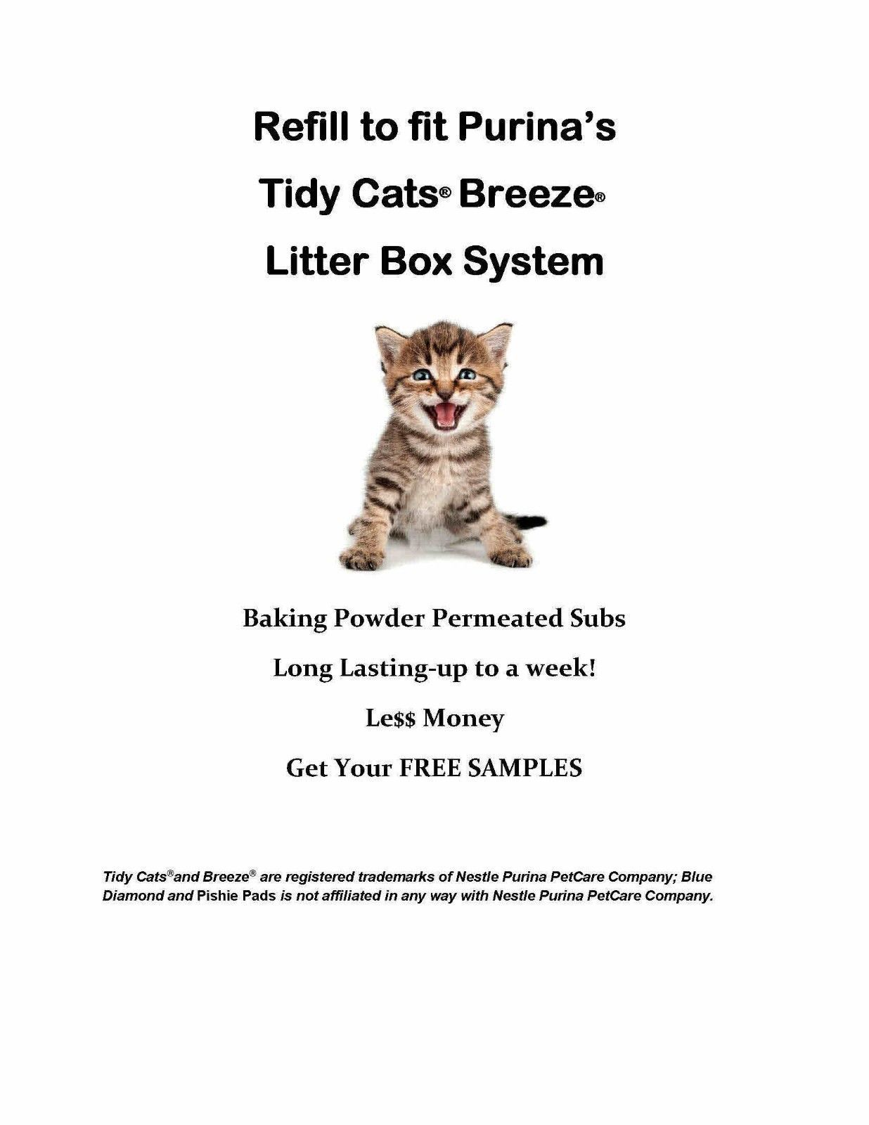 120 Pishie Cat Generic Pads for Litter Box System with Baking Powder Free Sample - $62.95