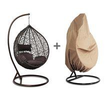 Tear Drop Outdoor Hanging Hammock Wicker Swing Chair Egg Shape w/Free Co... - $598.98