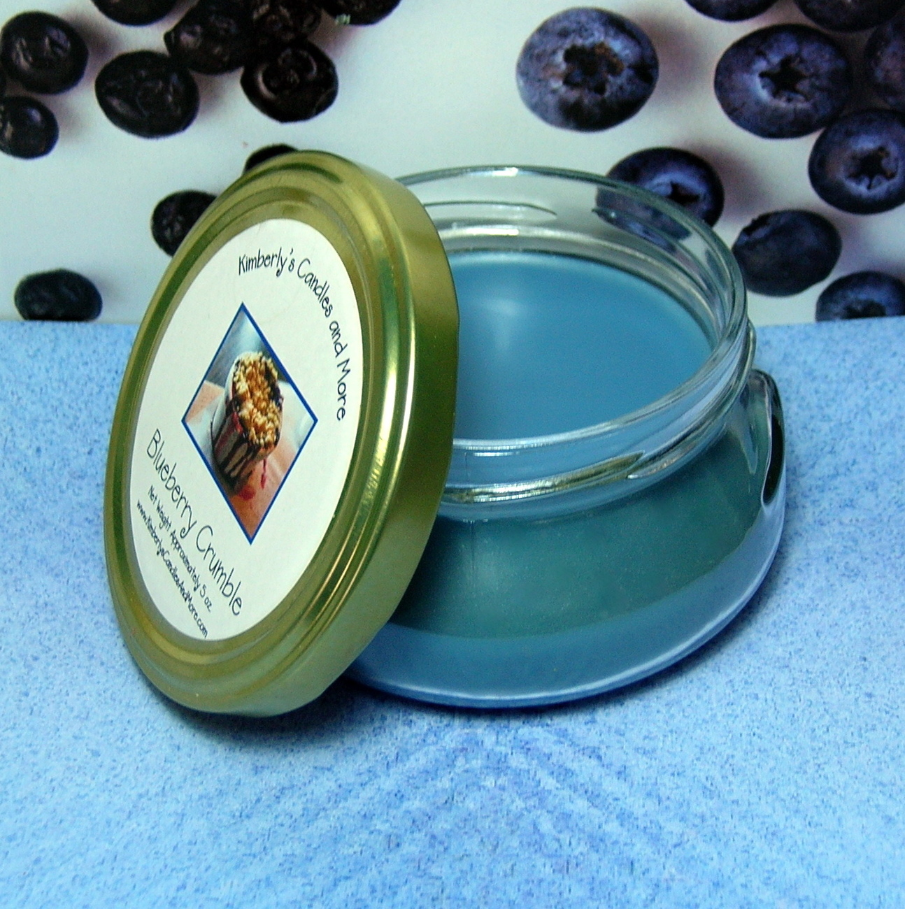 Blueberry Crumble Wickless Candle