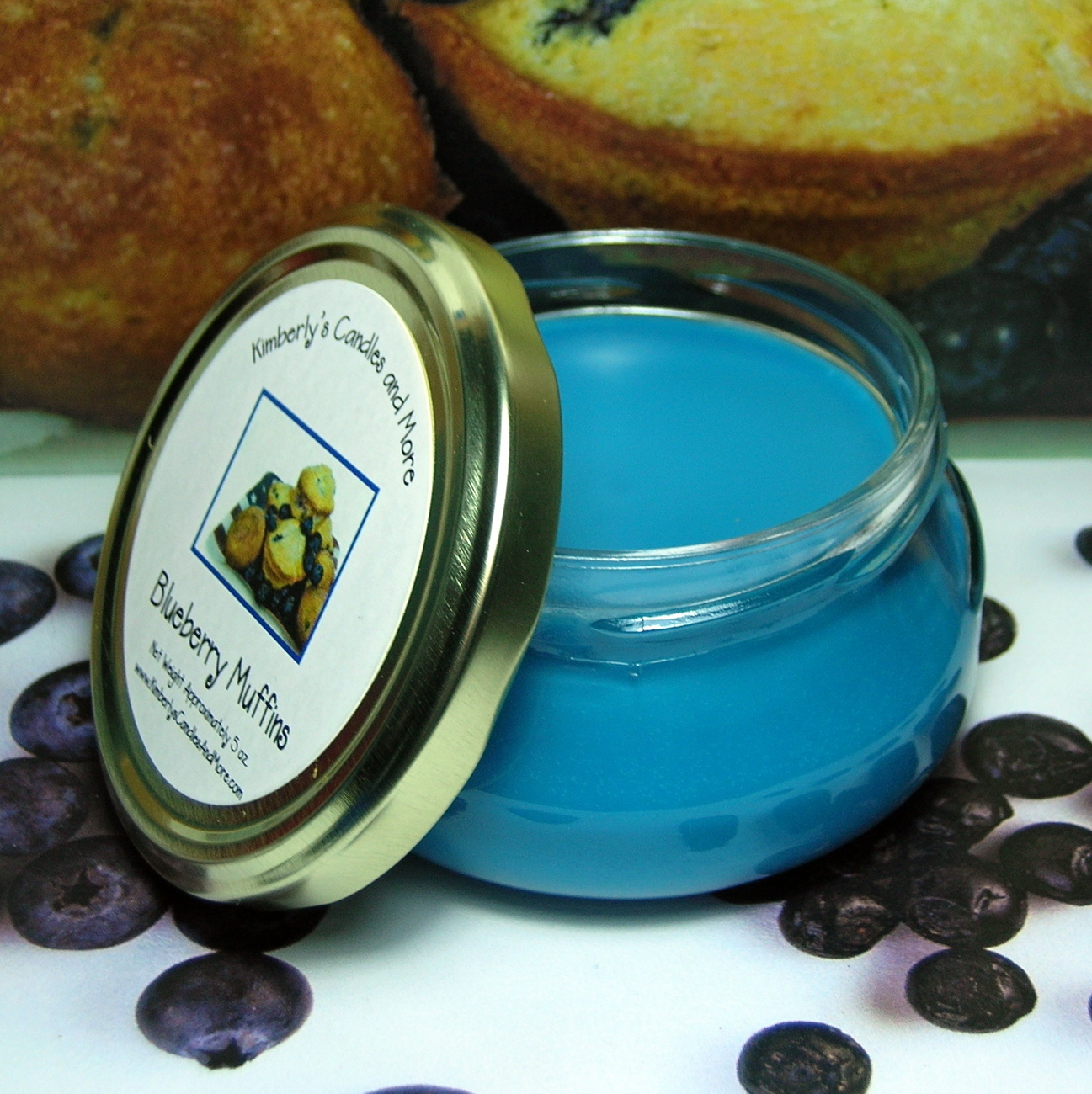 Blueberry Muffin  Wickless Candle
