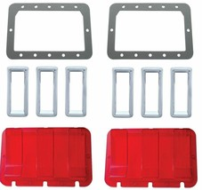 United Pacific  Tail Light Lens/Bezel/Gasket Set 1967 Ford Mustang - $117.80