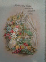 Vintage Mother's Day Wishes From Your Secret Pal Coronation Greeting Card  - $5.99