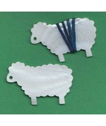 Ewe Thread Winders mother of pearl set 2 cross ... - $8.10