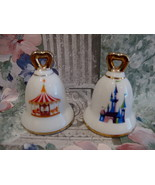 DISNEYLAND BELLS Salt and Pepper Shakers Set Collector CASTLE CAROUSEL S... - $19.95