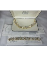 Nolan Miller Gold Tone Hugs & Kisses Link Necklace and Bracelet Set Sim ... - $123.74