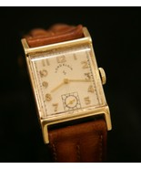 Men's vintage 1949 Lord Elgin 14K solid gold 21 jewel wristwatch, runnin... - $445.50