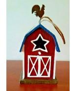Anthem American  Red Barn Birdhouse Home/Garden Decor 9 X 5 N/T - $34.65