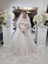 Romantic bohemian bride, delicate bridal gown, floral lace wedding dress... - $861.49
