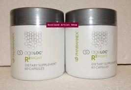 Two pack: Nu Skin Nuskin Pharmanex ageLOC R2 Night 60 Capsules SEALED x2 - $125.00