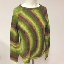 Women's Talbots Acrylic Wool Blend Pullover Sweater Green Long Sleeve - $16.48