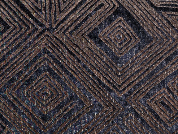 9.5 yds Contemporary Velvet Upholstery Fabric Glamorous Blue Bronze 3215-03 NU
